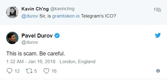 Gram ICO is a scam
