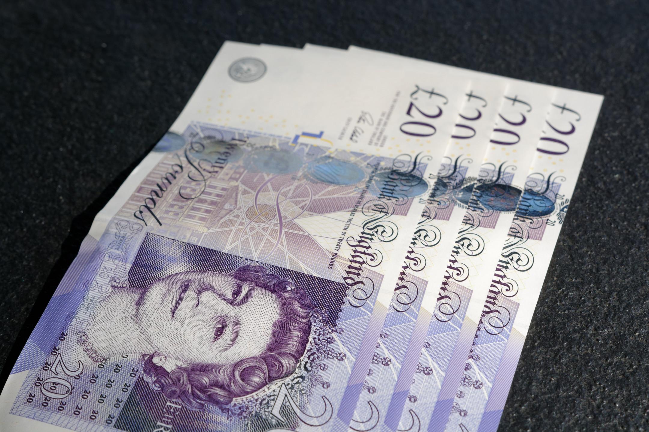 British pound under pressure against the US dollar